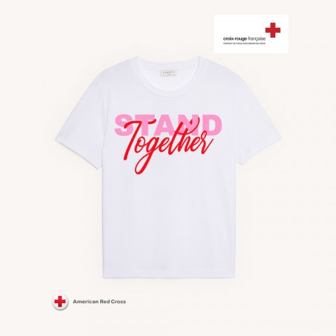 limited sale sandro charitable t-shirt - 02 white best price last chance