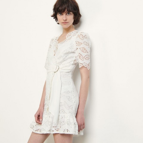 last chance short broderie anglaise dress - white best price limited sale