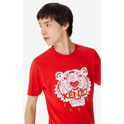 limited sale tiger t-shirt - medium red best price last chance