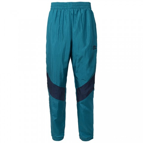 best price retro wind zip pant - teal/navy limited sale last chance