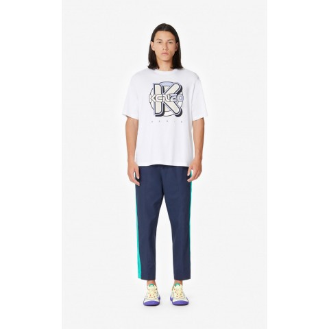 last chance 'wetsuit' kenzo t-shirt - white best price limited sale