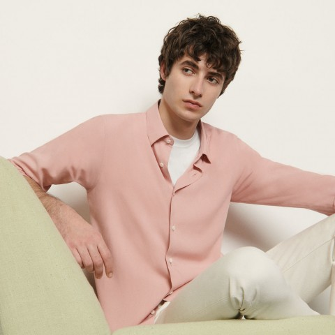 limited sale floaty viscose shirt - pink best price last chance