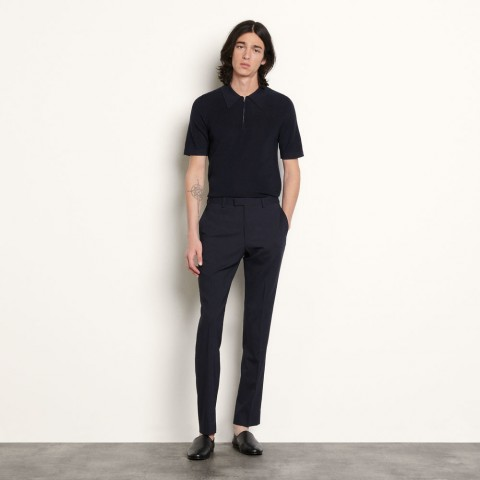 best price knit polo shirt - navy blue limited sale last chance