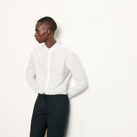 best price non-iron shirt - white last chance limited sale