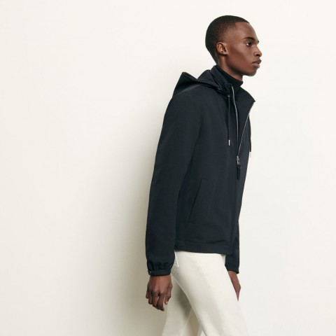 limited sale hooded jacket - navy blue best price last chance