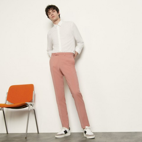 last chance cool wool suit trousers - pink limited sale best price