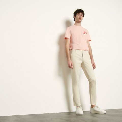 limited sale chino pants in stretch cotton - white last chance best price