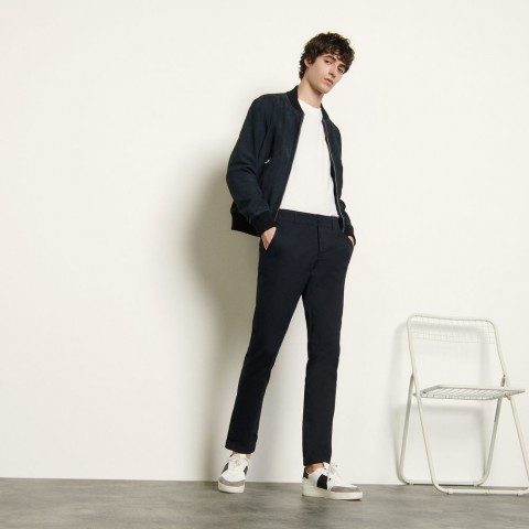 last chance chino pants in stretch cotton - navy blue limited sale best price