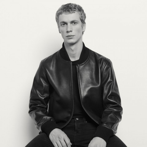last chance zipped leather jacket - black best price limited sale