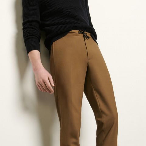 limited sale pants with elasticated waist - camel best price last chance