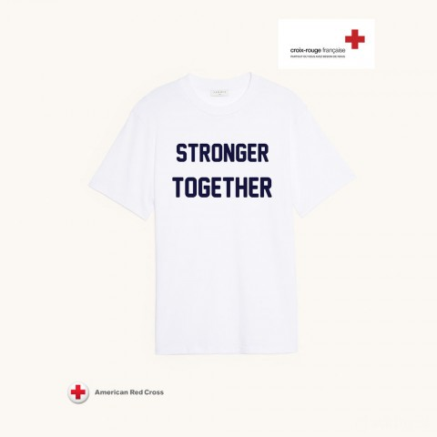 best price sandro charitable t-shirt - white last chance limited sale