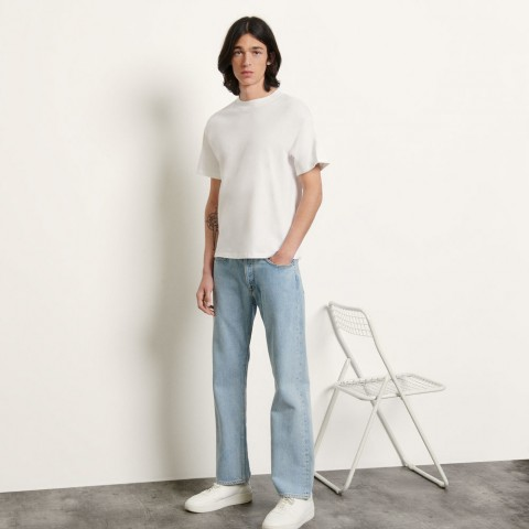 limited sale brushed cotton t-shirt - white last chance best price
