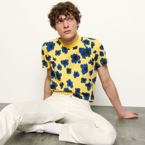 last chance printed t-shirt - yellow best price limited sale