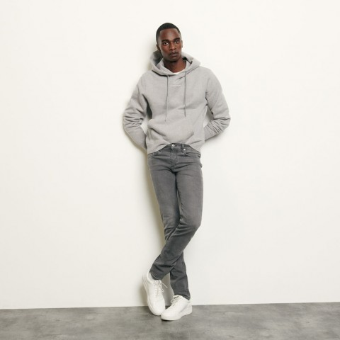 last chance washed grey jeans - skinny cut best price limited sale