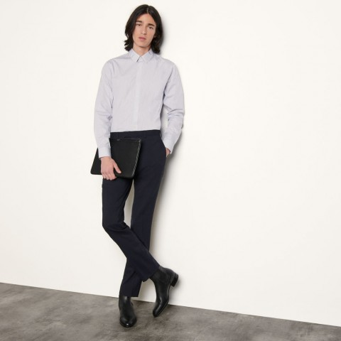 limited sale formal cotton shirt - white/blue last chance best price