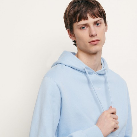best price hoodie sweatshirt with logo embroidery - sky blue limited sale last chance
