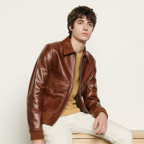 best price leather jacker - brown limited sale last chance