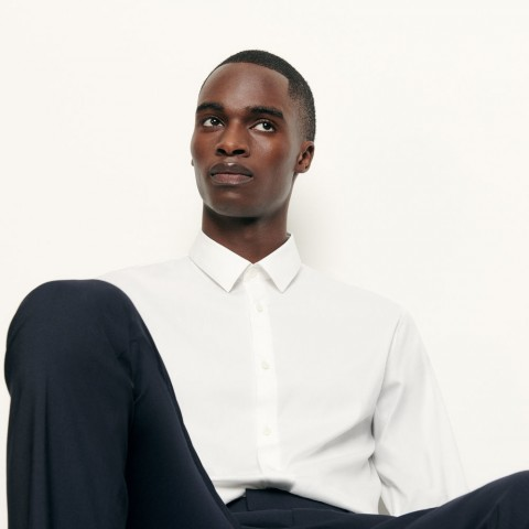 best price slim-fit classic shirt - white last chance limited sale