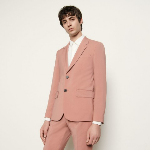 limited sale cool wool suit jacket - pink last chance best price