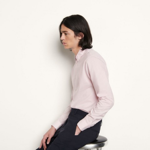 limited sale plain formal shirt in japanese fabric - pink best price last chance