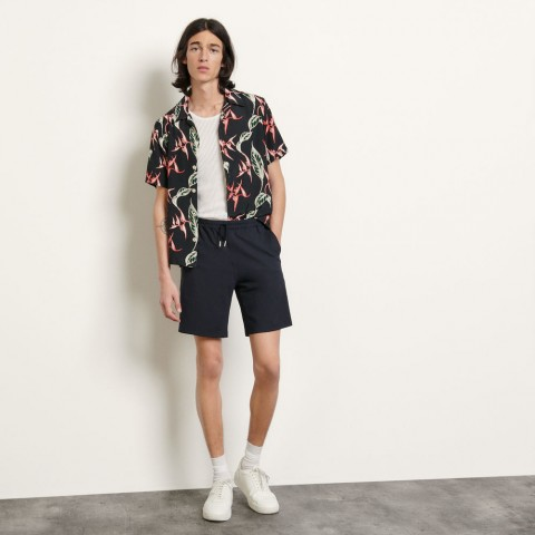 last chance wool shorts - navy blue best price limited sale