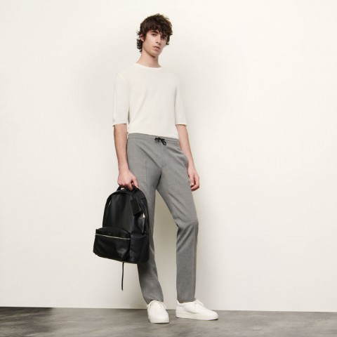 last chance pants with elasticated waist - light grey best price limited sale