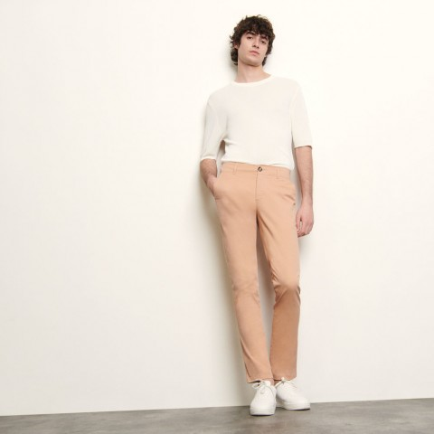 best price chino pants in stretch cotton - pink limited sale last chance