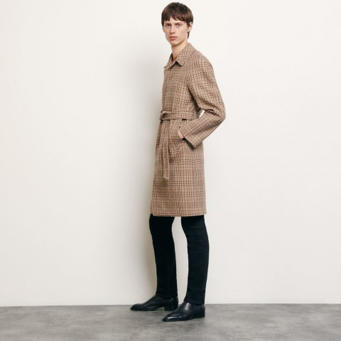 last chance decorative checked coat - beige limited sale best price