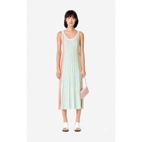 limited sale pleated knit midi dress - multicolor last chance best price