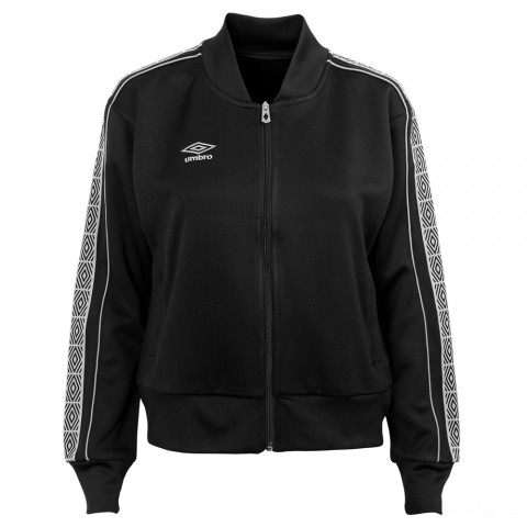 best price womens cropped track jacket - black beauty/white last chance limited sale