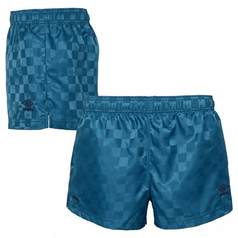 best price checkerboard short - teal/navy last chance limited sale