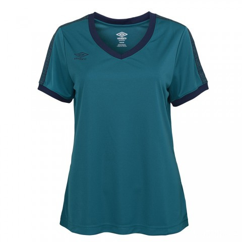 limited sale signature v-neck tee - teal/navy last chance best price