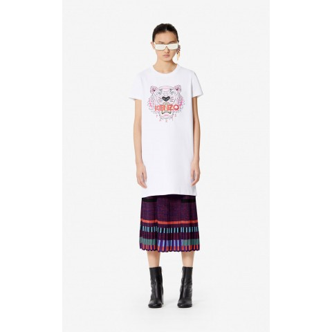 best price tiger t-shirt dress - white last chance limited sale