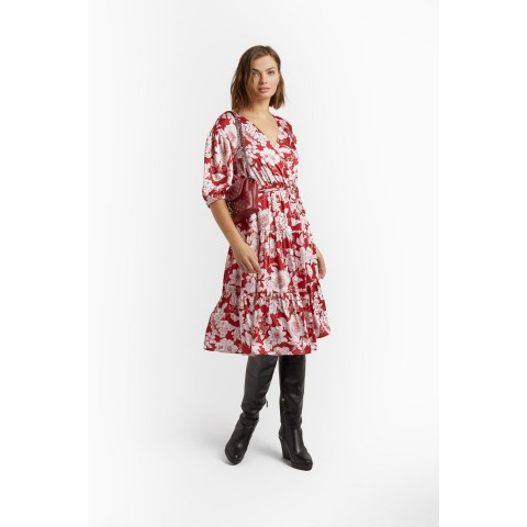 limited sale mary dress - red multi last chance best price