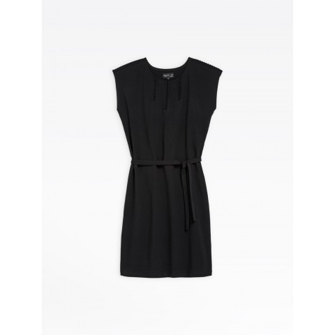 best price black jersey and lace dress limited sale last chance