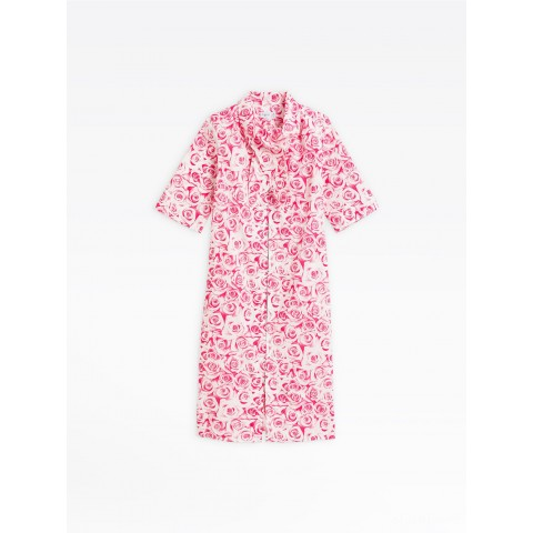last chance pink eden dress with roses print limited sale best price