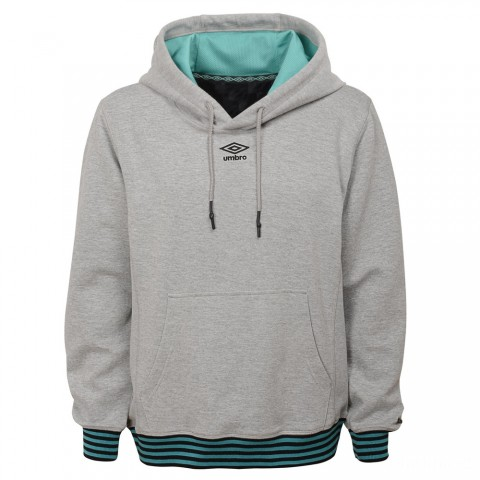 limited sale pull over double knit hoodie - medium grey heather / mint best price last chance