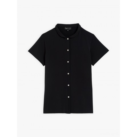 last chance black violaine shirt with glittery press studs limited sale best price