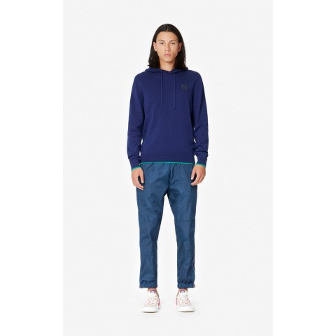 best price tiger hooded jumper - midnight blue last chance limited sale