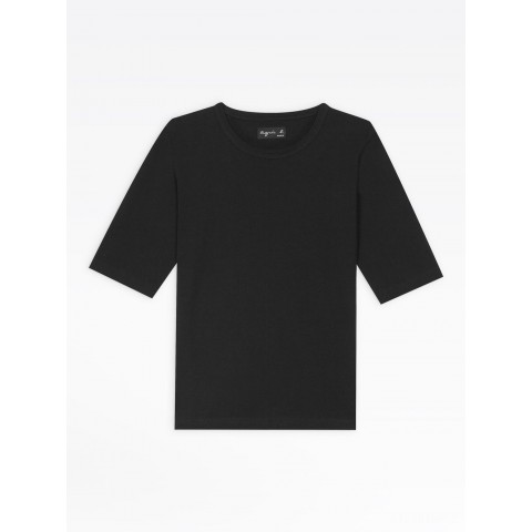 limited sale black brando elbow-length sleeves t-shirt last chance best price