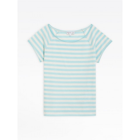 last chance light blue and beige striped christine t-shirt best price limited sale