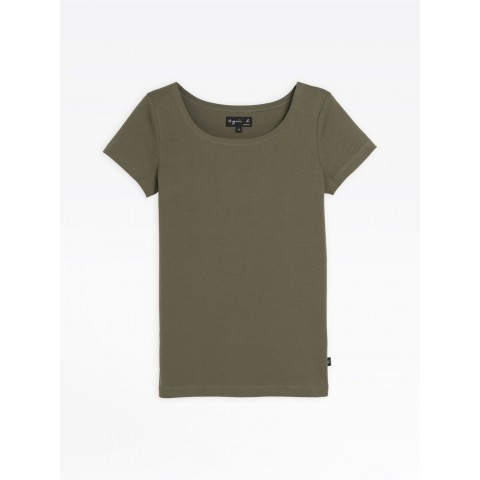 limited sale khaki short sleeves le chic t-shirt best price last chance