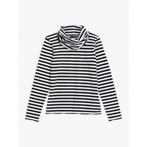 best price black and white striped transformable t-shirt last chance limited sale