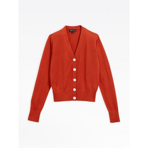 limited sale red silk and cotton lover cardigan last chance best price