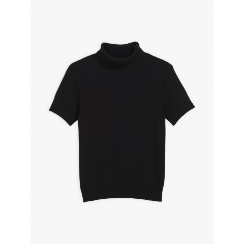 last chance black turtleneck new eddy sweater with short sleeves limited sale best price