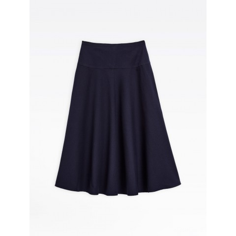 best price navy blue flared skirt last chance limited sale