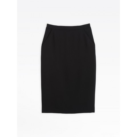 limited sale black flowing straight skirt last chance best price