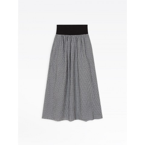 last chance black and white gingham cotton crepe eloïsa skirt limited sale best price