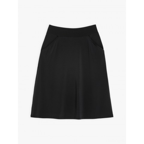 best price black lyrique skirt with pockets limited sale last chance