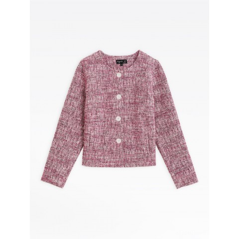 last chance pink tweed may jacket limited sale best price